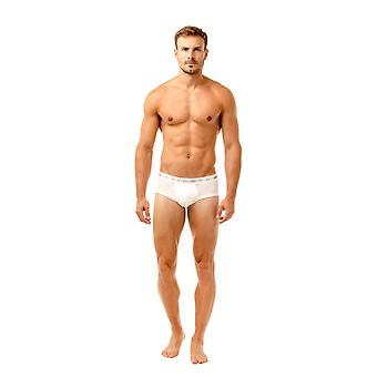 Haigman Mens Three Pack Cotton Stretch White Briefs