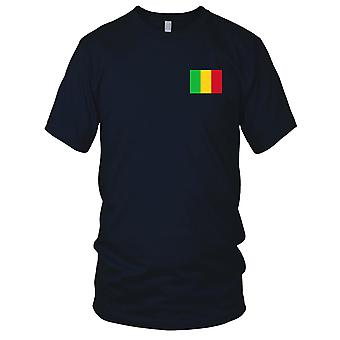 Mali-Land-Nationalflagge - Stickerei Logo - 100 % Baumwolle T-Shirt Damen T Shirt