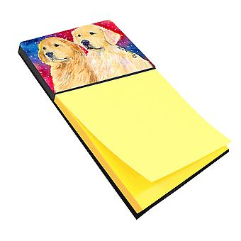Golden Retriever Refiillable Sticky Note Holder or Postit Note Dispenser