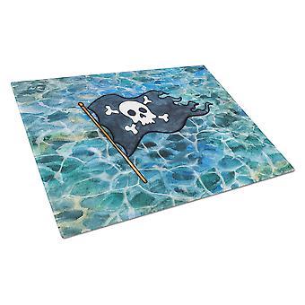 Carolines Treasures  BB5342LCB Pirate Flag Glass Cutting Board Large