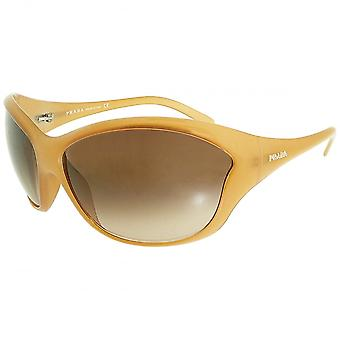 Prada Prada Ladies Caramel Oversized Butterfly Sunglasses With Gradient Lens