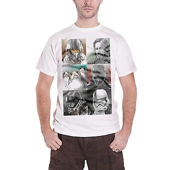 Star Wars T Shirt The Last Jedi Characters Luke Porgs new Official Mens White
