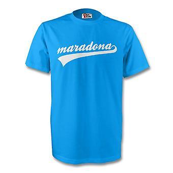 Diego Maradona Argentina signatur Tee (himmel blå) - børn