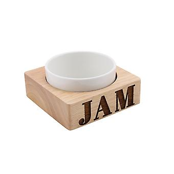 CGB Giftware Loft Jam Carved Wood Ceramic Bowl Set
