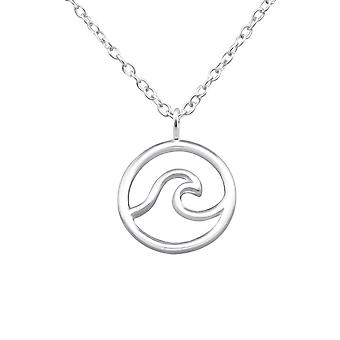 Wave - 925 Sterling Zilver Plain-kettingen - W32223x