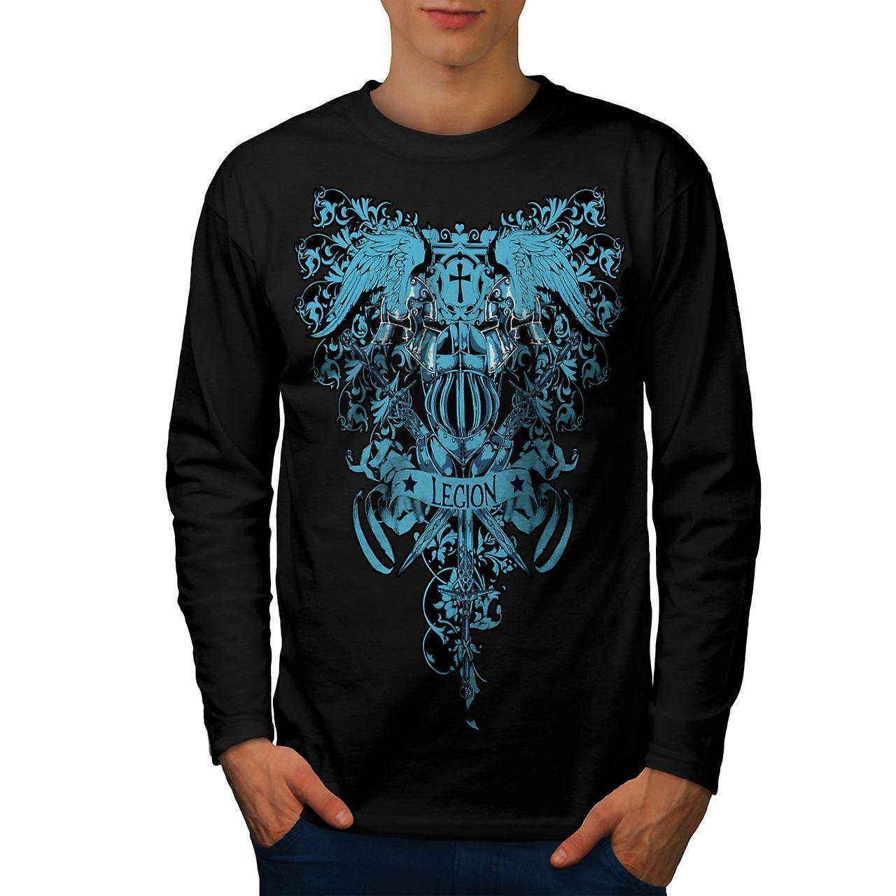 Death Legion Art Vintage Men Black Long Sleeve T-shirt | Wellcoda