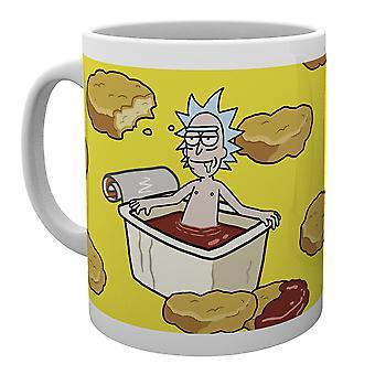 Rick y Morty McNugget salsa taza