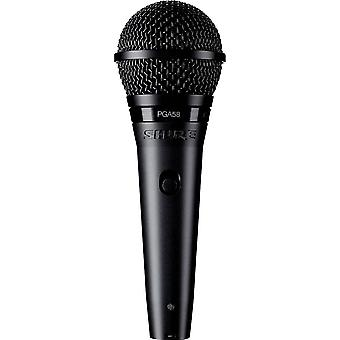 Microphone (vocals) Shure PGA58-XLR-E Transfer type:Corded incl. cable, incl. clip, Steel enclosure, Switch
