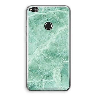 Huawei Ascend P8 Lite (2017) Transparant fallet - grön marmor