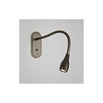 Lindos Switched Bronze Plated Led Reading Light - Astro Lighting 7905