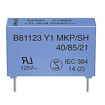 Y1 suppression capacitor Radial lead 2.2 nF 250 V AC