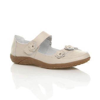 Ajvani womens full leather comfort hook & loop walking casual sandals shoes