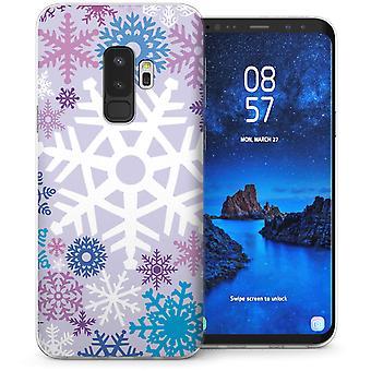Samsung Galaxy S9 met Kerstmis Snowflake TPU Gel koffer-paars