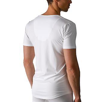 Mey 46038 Men's White Dry Cotton V-Neck Short Sleeve Top