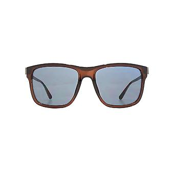 French Connection D Frame Metal Temple Sunglasses In Crystal Brown