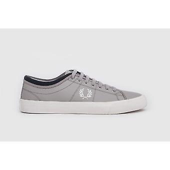 Sneakers Fred Perry Casual Fred Perry Kendrick inverte Tipped Cuff Canvas argento/neve White/navy