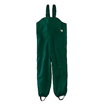 Childrens Waterproof Dungarees - Green Protective kids overalls rainwear Snow
