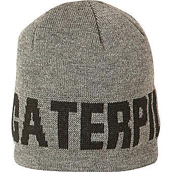 Caterpillar Mens Branded Keep Warm Hat Cap Grey