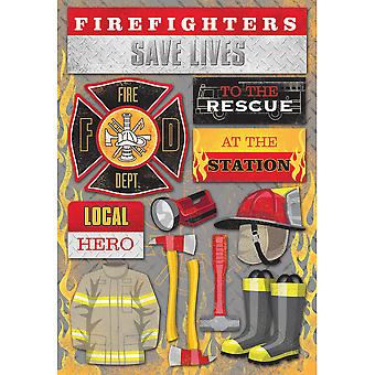 Firefighter Cardstock Stickers 5.5
