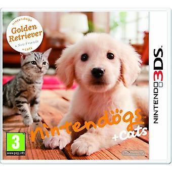 Nintendogs  Cats - Golden Retriever  New Friends (Nintendo 3DS)