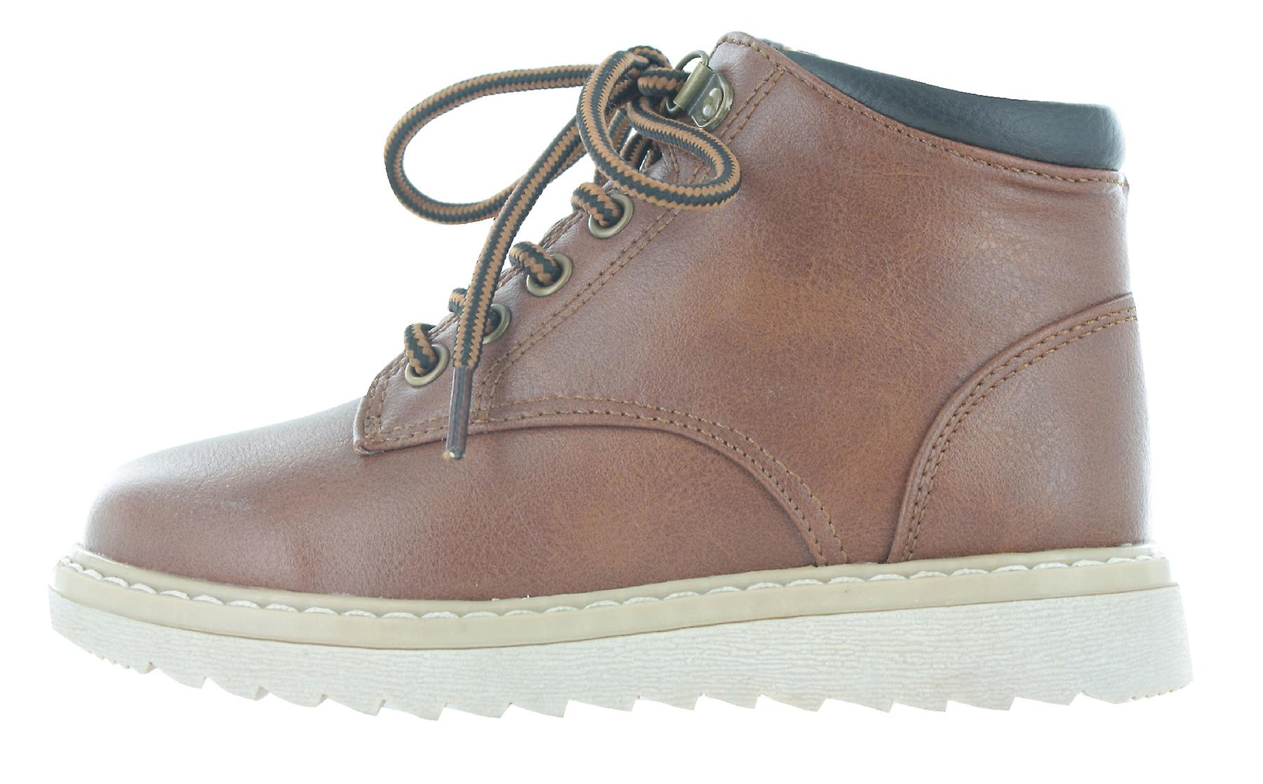 Boys Buckle My Shoe Brown to Tan Ankle Boots Back to Brown School Zip Up Various Sizes fe26ce