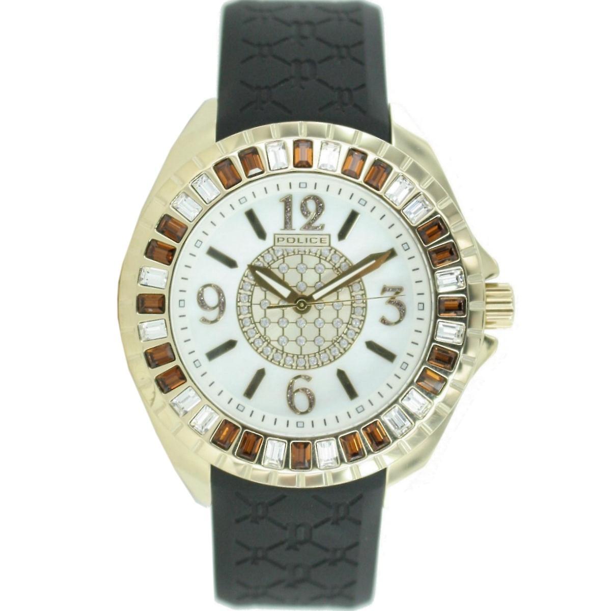 Police mens watch wrist watch analog rubber PL. 13090JSG/28 d