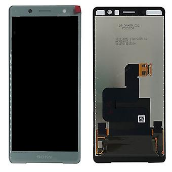 Sony display LCD complete unit for Xperia XZ2 compact H8314 / H8324 green spare parts new