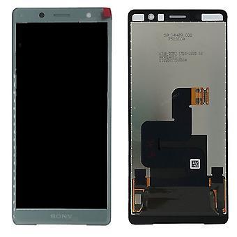 Sony Display LCD Komplett Einheit für Xperia XZ2 Compact H8314 / H8324 Grün Ersatzteil Neu