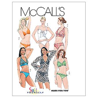 Misses' Two- Piece Bathing Suit and Cover-Up-AX5 (4-6-8-10-12) -*SEWING PATTERN*