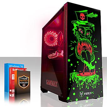 Feroce GOBBLER Gaming PC, Intel Core i7 8700 K 4,5 GHz, 120 GB SSD, 1 TB HDD, 16 GB di RAM, GTX 1060 6 GB