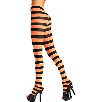 Be Wicked BW679 Wide stripe opaque panyhose
