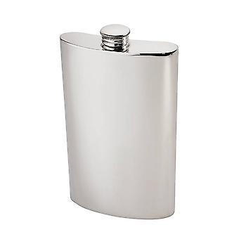 8Oz Plain Pewter Kidney Hip Flask