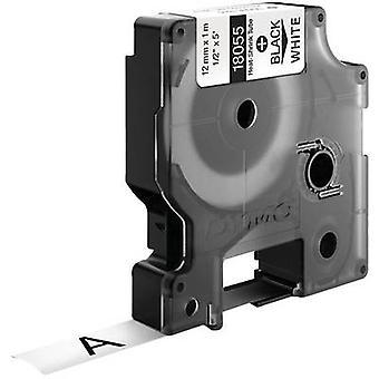 Heatshrink label DYMO 18055 Polyolefin Tape colour: White Font colour: Black 12 mm 1.5 m