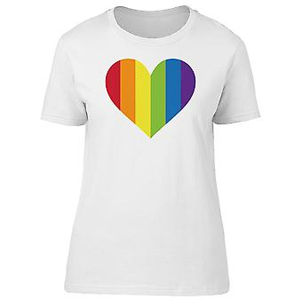 Big Heart In Rainbow Colors Tee Women's -Image by Shutterstock