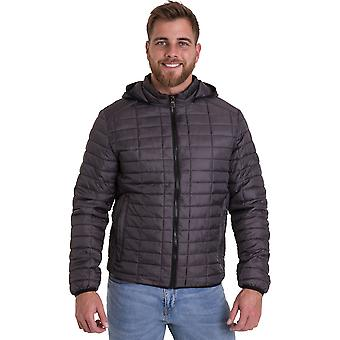 Outdoor Look Mens Corpach Hooded Puffa Quilted Jacket Coat