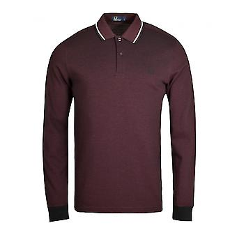 Long sleeves polo Burgundy M3636 Fred Perry Man