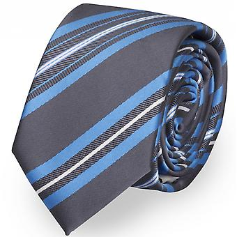 Tie tie tie tie 6cm black blue Fabio Farini white striped