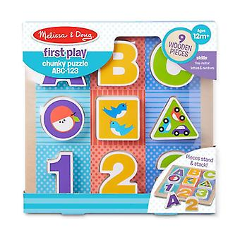 Melissa & Doug First Play Chunky Puzzle ABC 123