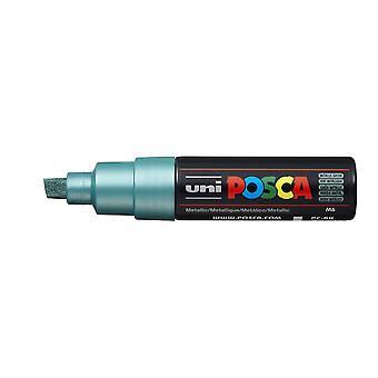 Uni POSCA PC-8K 8mm Chisel Marker Pen - Metallic Green