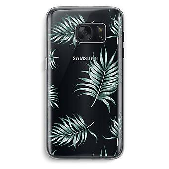 Samsung Galaxy S7 Transparent Case (Soft) - Simple leaves