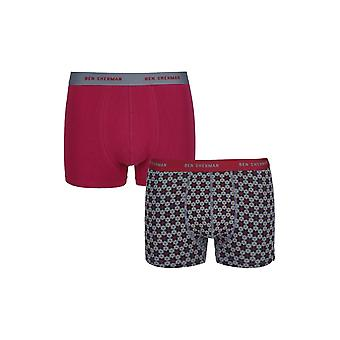 Ben Sherman Underwear Men's 2 Pack Boxer Trunk Shorts Grey Wesley