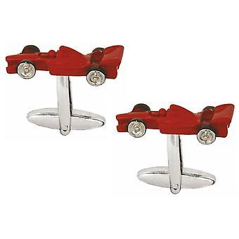 Zennor Race Car Cufflinks - Red