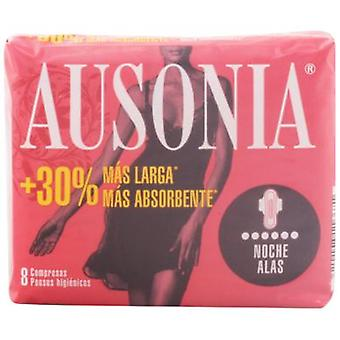 Ausonia Night Compresses with Wings 8 uds (Hygiene and health , Intimate hygiene , Pads)