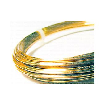 1 X Anti-trüben plattierten Kupfer 0,8 mm x 6 m Quadrat Craft Wire Coil W4080