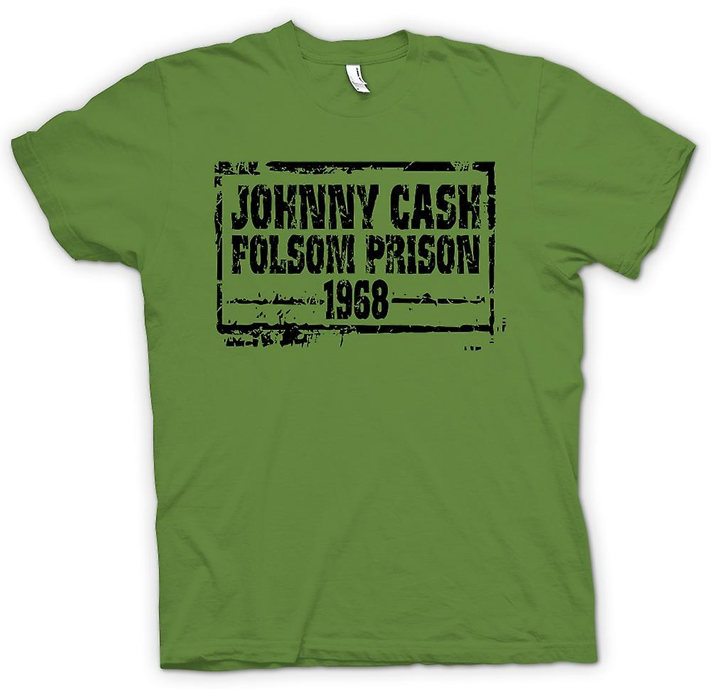 Hommes T-shirt - Johnny Cash Folsom Prison 68 - Country Legend