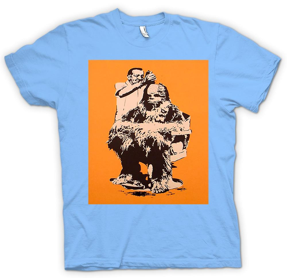 Heren T-shirt - Chewbacca kapsel - Star Wars