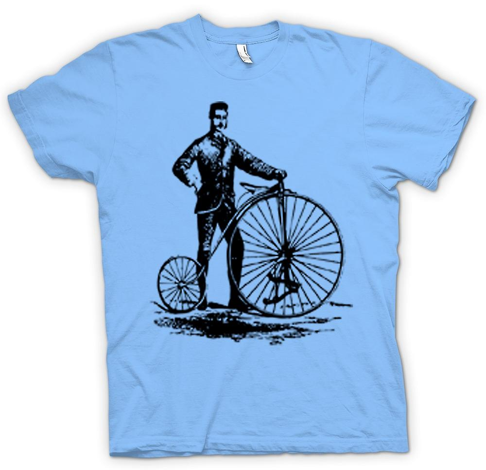 Mens T-shirt - Penny Farthing Classic Bicycle