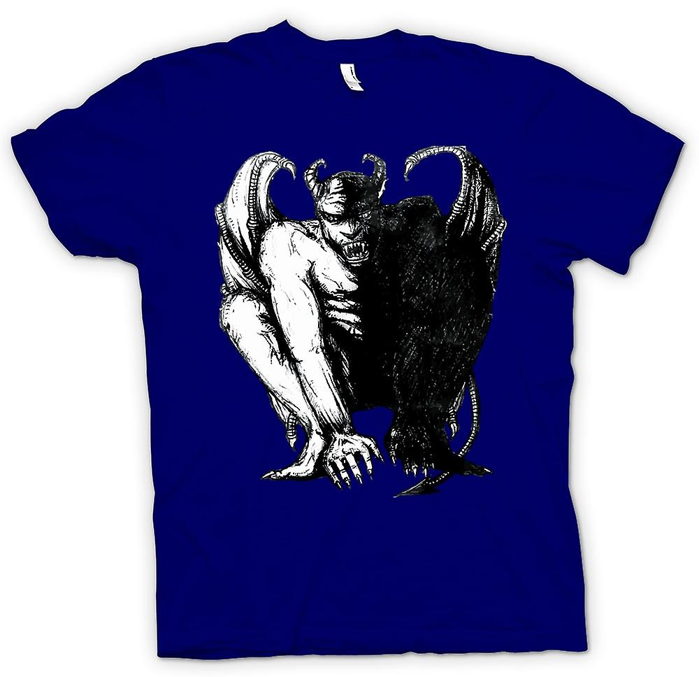 Mens T-shirt - Teufel Satan Sketch - Horror