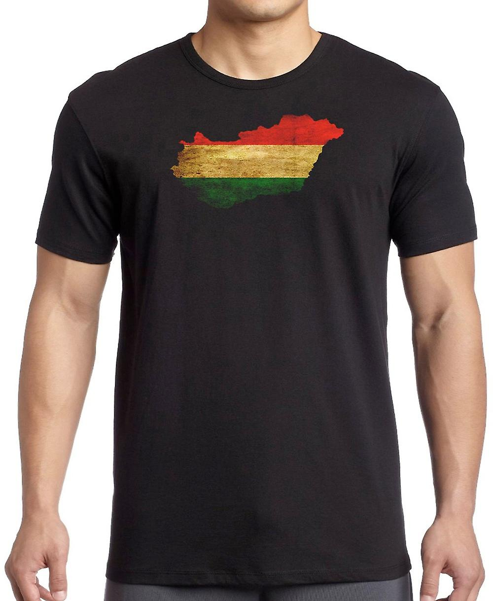 Hungary Hungarian Flag Map Kids T Shirt