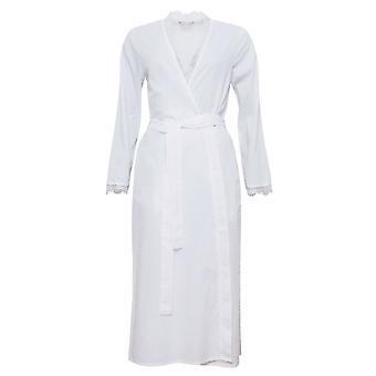 Cyberjammies 1315 entdeckt Frauen Nora Rose Pearl White Morgenmantel Loungewear Robe